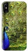 Peacock At Frankenmuth Michigan IPhone Case