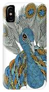 Peacock IPhone Case by Barbara McConoughey