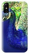 Peacock Blued IPhone Case
