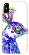 Peacock Closeup IPhone Case