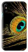 Peacock Feather 6 IPhone Case