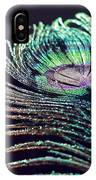 Peacock Feather With Dark Background IPhone Case