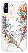 Peacock Feathers-colorful IPhone Case