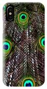 Peacock Feathers Upside Down IPhone Case