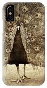 Peacock Grunge IPhone Case