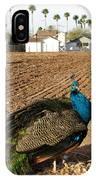 Peacock On The Farm IPhone Case