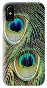 Peacock Pavo Cristatus Feather Detail IPhone Case