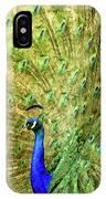 Peacock Prancing IPhone Case