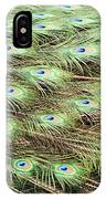 Peacock Tail Feathers  IPhone Case