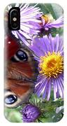 Peacock With Bee IPhone Case