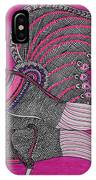 Peacock_pink IPhone Case