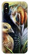 Peahen And Chick IPhone Case