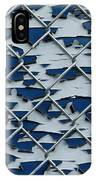 Pealing Paint Fence Abstract 2 IPhone Case
