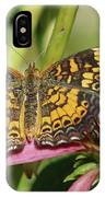 Pearl Crescent Butterfly On Coneflower IPhone Case