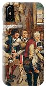 Peasants Paying Tithes By Pieter Bruegel I IPhone Case