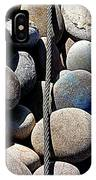 Pebbles And Cable IPhone Case