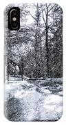 Peeling Winter Away IPhone Case