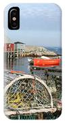 Peggys Cove And Lobster Traps IPhone Case
