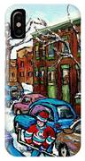 Peintures De Montreal Scene De Pointe St Charles Rue Grand Trunk IPhone Case