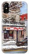 Peintures Petits Formats A Vendre Montreal Original Art For Sale Restaurant Chez Paul The Pointe Psc IPhone Case