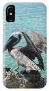 Pelican In Aruba Landing On Lava Rock IPhone Case