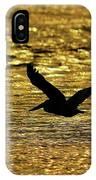 Pelican Silhouette - Golden Gulf IPhone Case