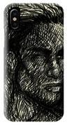 Pencilportrait 02 IPhone Case