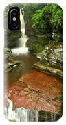 Pennsylvania Red Rock Falls IPhone Case