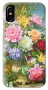 Peonies And Mixed Flowers IPhone Case