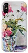 Peonies In Crystal Vase IPhone Case