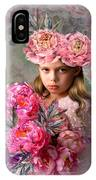 Peony Flower Child IPhone Case