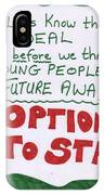 People's Vote Option To Stay Young People Need A Future IPhone X Case