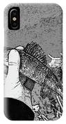 Perch Black And White IPhone Case