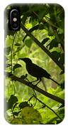 Perched In Green  IPhone Case
