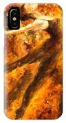 Perfection Of Practice - Palette Knife Oil Painting On Canvas By Leonid Afremov IPhone Case