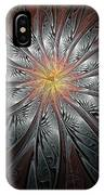 Petals In Pewter IPhone Case