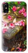 Petals On A Bench IPhone Case