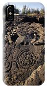 Petroglyphs In Kalahuipuas Historic IPhone Case
