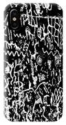 Petroglyphs Vertical Black And White IPhone Case