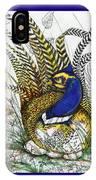 Pheasant Blue IPhone Case