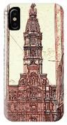 Philadelphia City Hall - Pencil IPhone Case
