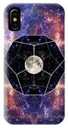 Photo Of The Moon And Sacred Geometry IPhone Case