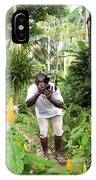 Photographer In The Jungle IPhone Case
