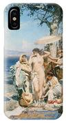 Phryne At The Festival Of Poseidon In Eleusin IPhone Case