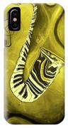 Piano Keys In A  Saxophone Golden - Music In Motion IPhone Case