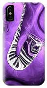 Piano Keys In A Saxophone Purple - Music In Motion IPhone Case