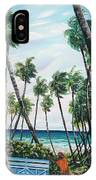 Picking Coconuts .. Mayaro IPhone Case