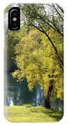 Picnic Spot On Spokane River IPhone Case