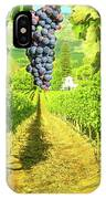 Picturesque Vineyard At Sunset IPhone Case