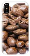 Pile Of Coffee Beans Isolated On White IPhone Case